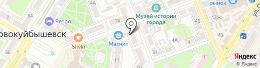 Минимаркет на карте Новокуйбышевска