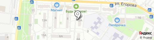 Бакс на карте Новокуйбышевска