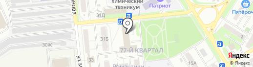 Графит на карте Новокуйбышевска