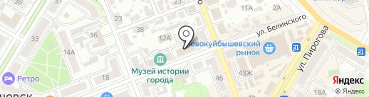 Астро-Волга-Мед на карте Новокуйбышевска
