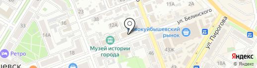 Народная на карте Новокуйбышевска