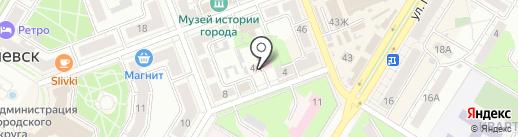 Областная станция скорой медицинской помощи на карте Новокуйбышевска