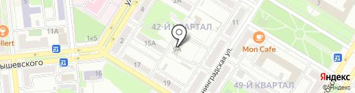 Управление социальной защиты населения на карте Новокуйбышевска