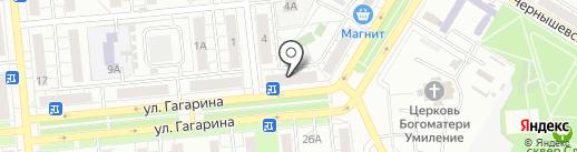 Светлое и Темное на карте Новокуйбышевска