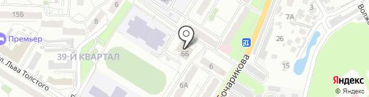 Тонус на карте Новокуйбышевска
