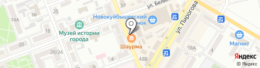 Флорист на карте Новокуйбышевска
