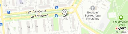 Заречье на карте Новокуйбышевска