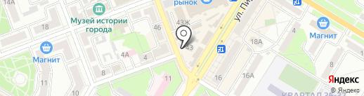 Магазин одежды и обуви на карте Новокуйбышевска