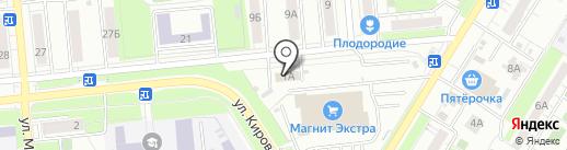 Сельскохозяйственный на карте Новокуйбышевска