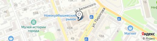 Экспресс на карте Новокуйбышевска