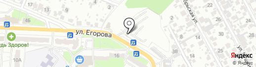 Автостоянка №3 на карте Новокуйбышевска