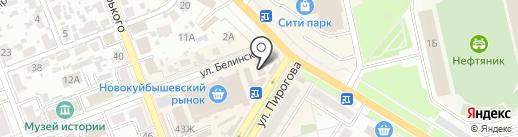 СамараВЕЛО на карте Новокуйбышевска