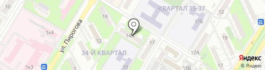 Актив на карте Новокуйбышевска