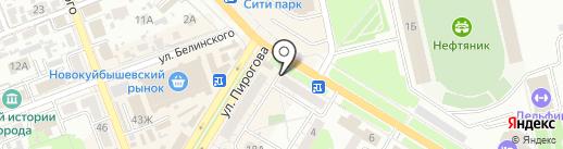 Банкомат, Совкомбанк, ПАО на карте Новокуйбышевска