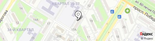 Палитра на карте Новокуйбышевска