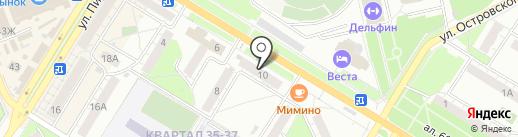 Урга на карте Новокуйбышевска