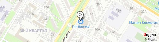 Юбилейный на карте Новокуйбышевска