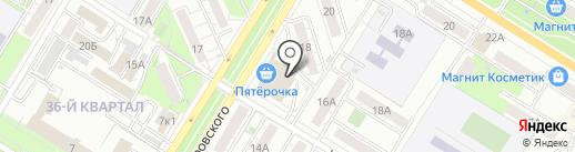 Мобильный перекресток на карте Новокуйбышевска