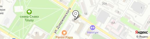 Волна на карте Новокуйбышевска