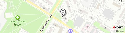 Пятерочка на карте Новокуйбышевска