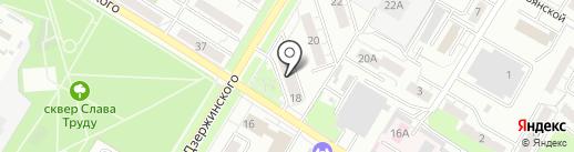 Дюйм на карте Новокуйбышевска
