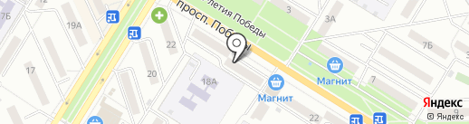 Сластена на карте Новокуйбышевска