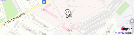Новокуйбышевская центральная городская больница на карте Новокуйбышевска