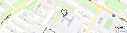 Воин на карте Новокуйбышевска