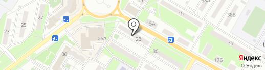 Авоська на карте Новокуйбышевска