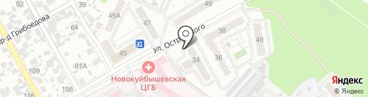 Самарахимтехнология на карте Новокуйбышевска
