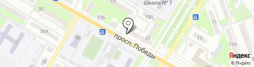 Нотариус Романова Л.В. на карте Новокуйбышевска