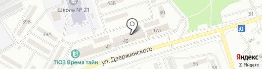 Пятерочка+ на карте Новокуйбышевска
