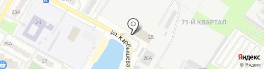 ЮнионТрейдИнвест, ЗАО на карте Новокуйбышевска