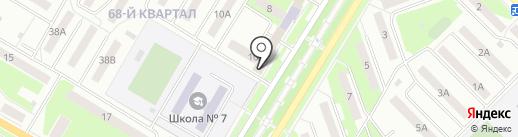 Почтовое отделение №218 на карте Новокуйбышевска