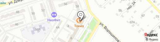 Волга на карте Новокуйбышевска