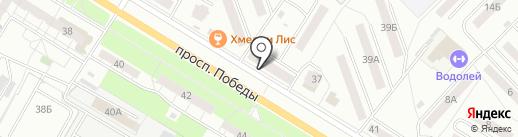 Ноябрь на карте Новокуйбышевска