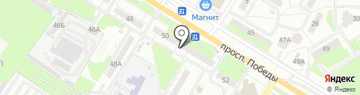 Экватор на карте Новокуйбышевска