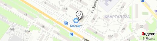 Винтаж на карте Новокуйбышевска