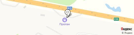 АЗС на Федеральной трассе М5 1007 км на карте Курумоча