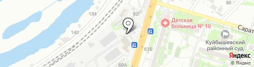 Элегант на карте Самары