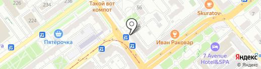 Магазин фастфудной продукции на карте Самары
