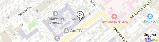 Банкомат, Газпромбанк на карте Самары