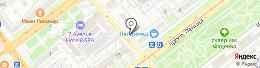Киоск по продаже хлебобулочных изделий на карте Самары