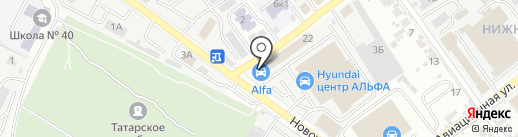 Автоцентр Альфа на карте Самары
