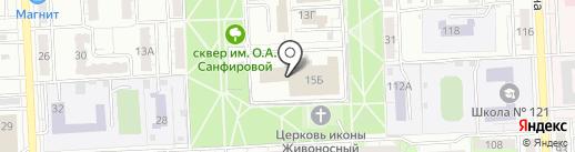 Ласточка на карте Самары