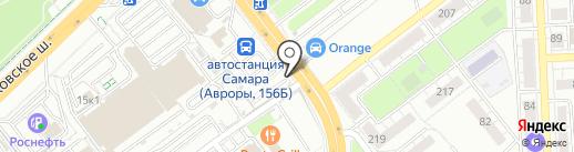 Автостоянка на карте Самары
