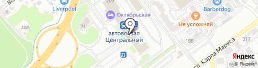 Центральный Автовокзал на карте Самары