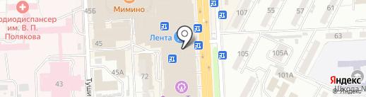Лента на карте Самары
