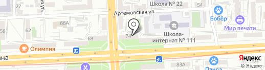 Алексиевское Братство на карте Самары