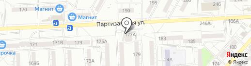 Магазин продуктов на карте Самары
